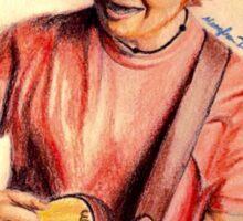 Ed Sheeran Colored Pencil Drawing Sticker