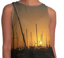 Masts and Palm Trees Contrast Tank