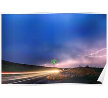 Cruising Highway 36 Into the Storm  Poster