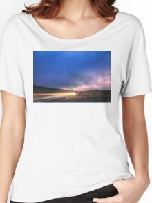 Cruising Highway 36 Into the Storm  Women's Relaxed Fit T-Shirt