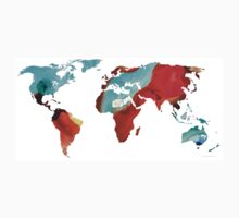 Map of The World 4 -Colorful Abstract Art Baby Tee