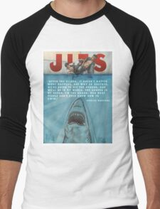 JITS - Mat is Ocean - TITLE AND QUOTE Men's Baseball ¾ T-Shirt