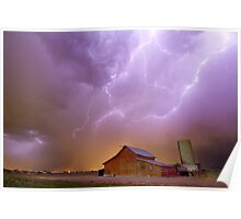 Red Barn on a Farm and What a Beautiful Sight Poster