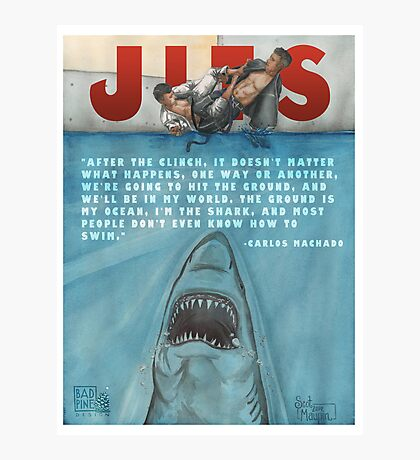JITS - Mat is Ocean - TITLE AND QUOTE Photographic Print