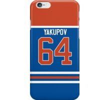 Oilers Nail Yakupov Jersey iPhone Case/Skin