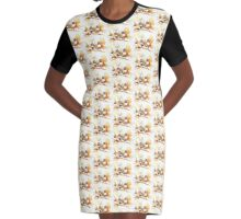 Zebra Finches Graphic T-Shirt Dress
