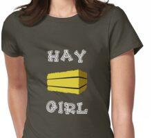 Hay Girl (Dark) Womens Fitted T-Shirt