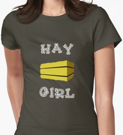 Hay Girl (Dark) Womens Fitted T-Shirt