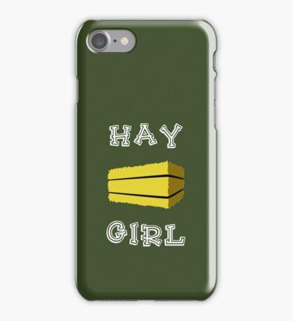 Hay Girl (Dark) iPhone Case/Skin
