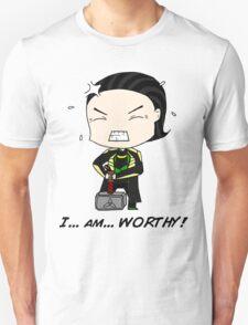 "Loki - ""I am worthy!"" T-Shirt"