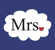 Mrs with heart dot on cloud (Mr and Mrs set) by omadesign