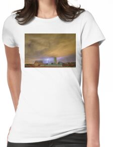 Thunderstorm Hunkering Down On The Farm Womens Fitted T-Shirt