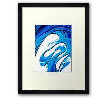 Pure Water 315 - Blue Abstract Art By Sharon Cummings Framed Print