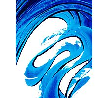Pure Water 315 - Blue Abstract Art By Sharon Cummings Photographic Print