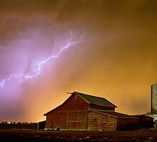 Watching The Storm From The Farm by Bo Insogna
