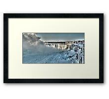 icy niagara Framed Print