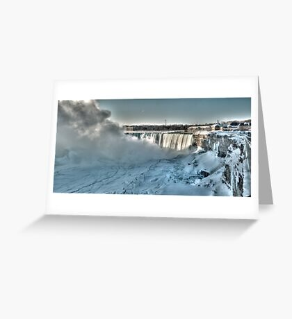 icy niagara Greeting Card