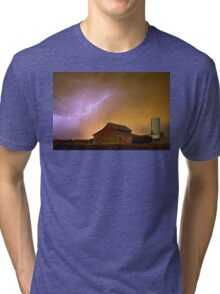Watching The Storm From The Farm Tri-blend T-Shirt