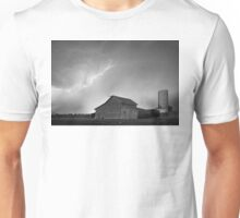 Watching The Storm From The Farm BW Unisex T-Shirt