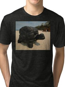 Rubber Tyre Tortoise @ Sculptures By The Sea Tri-blend T-Shirt