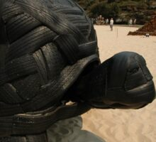 Rubber Tyre Tortoise @ Sculptures By The Sea Sticker