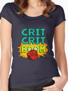 Crit Crit Boom Women's Fitted Scoop T-Shirt