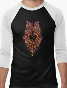 Owl. Men's Baseball ¾ T-Shirt
