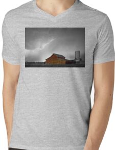 Watching The Storm From The Farm BWSC Mens V-Neck T-Shirt