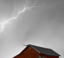 Watching The Storm From The Farm BWSC Sticker