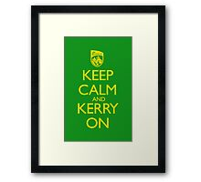 Keep Calm & Kerry On (clean) Framed Print