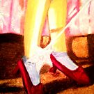 OZ RUBY SLIPPERS, THERE THEY ARE,  THERE THEY'LL STAY by JoAnnHayden
