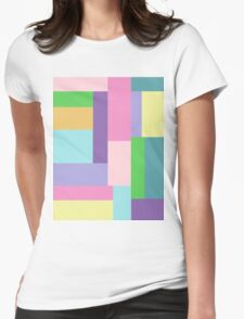 Pastel Sky Womens Fitted T-Shirt