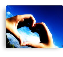 Hold my heart in your hands Canvas Print