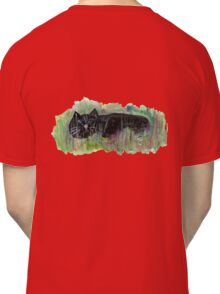 Black cat in grass Classic T-Shirt