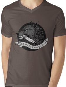 Lupus Black Mens V-Neck T-Shirt