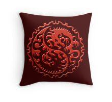 Dragons Ying Yang Throw Pillow