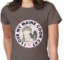 Maine Coon Cat T-Shirts Womens Fitted T-Shirt