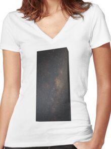 Monolith - It's full of stars Women's Fitted V-Neck T-Shirt