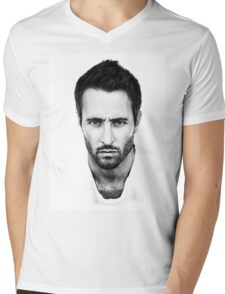 Alex O'Loughlin Mens V-Neck T-Shirt