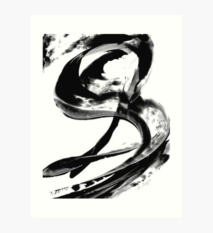 Black Magic 307 - Black And White Art Art Print