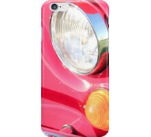 Red Fiat 500 Head Lamp iPhone Case/Skin
