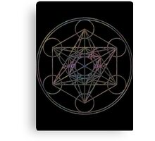 Metatron's Cube on Black Canvas Print