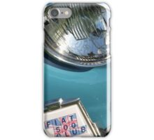 Blue Fiat 500 Head Lamp iPhone Case/Skin
