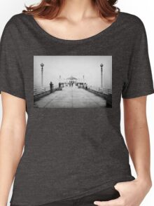 Manhattan Beach Pier In Black And White Women's Relaxed Fit T-Shirt