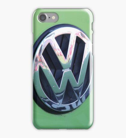 VW Badge - Lime Green iPhone Case/Skin