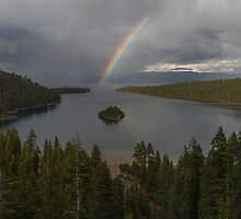 Rainbow at Emerald Bay by Richard Thelen