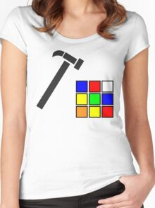 Rubik's Cube Solved Women's Fitted Scoop T-Shirt