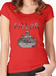 fidlar does exist Women's Fitted Scoop T-Shirt