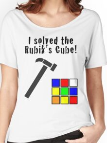 I Solved the Rubik's Cube Women's Relaxed Fit T-Shirt