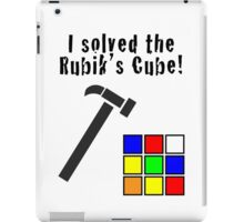 I Solved the Rubik's Cube iPad Case/Skin